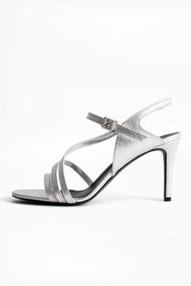 Zadig & Voltaire Marilyn Metallic Sandals