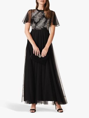 Phase Eight Loretta Feather Dress, Black