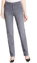 Lee Platinum Petite Gwen Domino Wash Straight-Leg Jeans