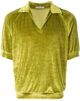 Bottega Veneta velvet rugby shirt
