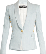 Balmain Single-breasted denim blazer