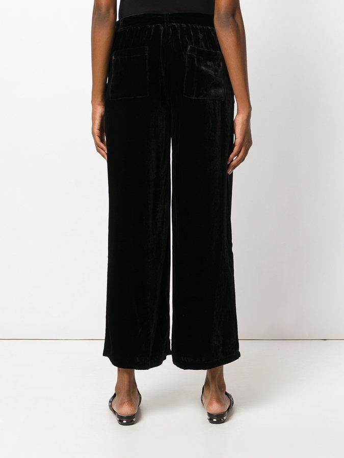 Gold Hawk cropped wide leg trousers