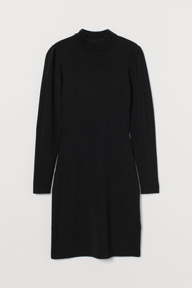 H&M Beaded turtleneck dress