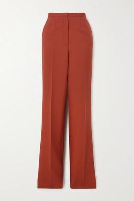 Prada Wool Straight-leg Pants - Red