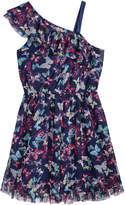 Epic Threads One-Shoulder Butterfly-Print Dress, Big Girls, Created for Macy's
