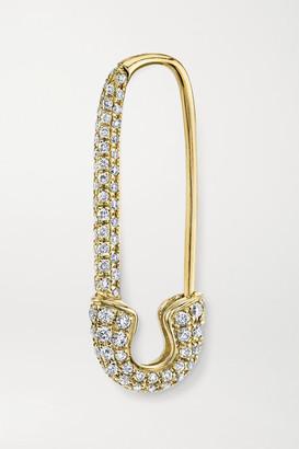 Anita Ko Safety Pin 18-karat Gold Diamond Earring