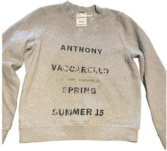 Anthony Vaccarello Grey Cotton Knitwear
