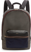 Paul Smith Bi-colour leather-trimmed nylon backpack