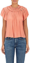 Ulla Johnson Women's Dahlia Tech-Satin Off-The-Shoulder Top