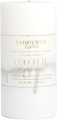 "Paddywax Concrete Pillar Candle, 4"" x 8"""