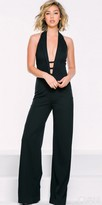 Jovani Plunging Fitted Jumpsuit
