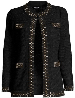 Misook Stud-Trim Textured Jacket