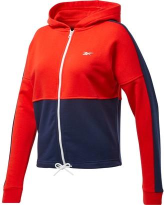 Reebok Plus Size Training Essentials Linear Logo French Terry Jacket