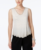 MSK Petite Beaded Top