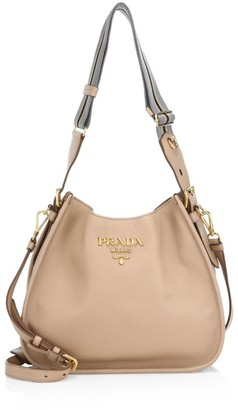 Prada Small Daino Hobo Shoulder Bag