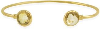 Vintouch Italy Brio Citrine Gold Vermeil Cuff Bracelet
