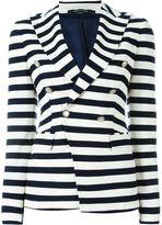 Tagliatore double breasted stripe blazer