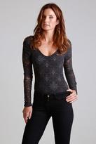 Nightcap Clothing Iris Lace Bodysuit in Ash