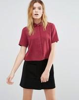 NATIVE YOUTH Tencel Print Cropped Shirt