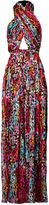 Matthew Williamson Rainbow Akita Animal Silk Wrap Jumpsuit