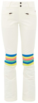 Perfect Moment Aurora Striped Flared Ski Trousers - Womens - White Multi
