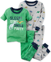 Carter's 4-Pc. Dino Snore Cotton Pajama Set, Little Boys (2-7) & Big Boys (8-20)