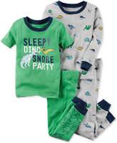 Carter's 4-Pc. Dino Snore Cotton Pajama Set, Little Boys (2-7) & Big Boys (8-20)