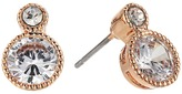 Lauren Ralph Lauren Rose Gold Social Small Stone Double Drop Earrings