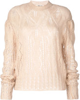 McQ by Alexander McQueen knitted jumper - women - Wool/Polyimide/Kid Mohair - XS