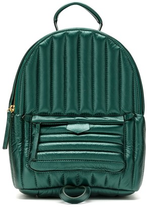 Padded Leather Backpack