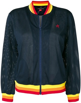 Perfect Moment Rainbow Mesh Bomber Jacket
