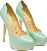 Charlotte Olympia 'Margo' Leather Pumps with Platform