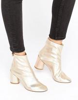 Raid RAID Siena Gold Mid Heeled Ankle Boots