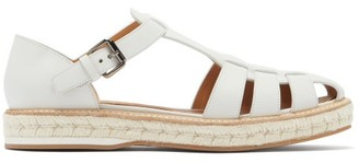 Church's Rosemary Leather Espadrille Sandals - White