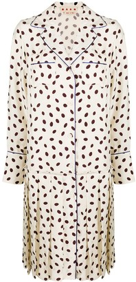 Marni Dotted Contrast-Trim Shirt Dress