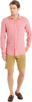 J.Mclaughlin Gramercy Classic Fit Linen Shirt in Gingham