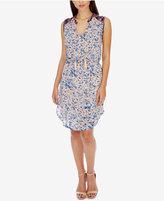 Lucky Brand Printed Tassel-Tie A-Line Dress