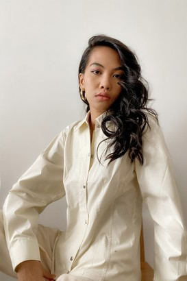 Thakoon Fitted Puff Sleeve Shirt Jacket