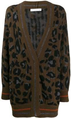 Fabiana Filippi oversized leopard cardigan