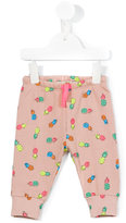 Stella McCartney pineapple print sweatpants - kids - Cotton - 6 mth