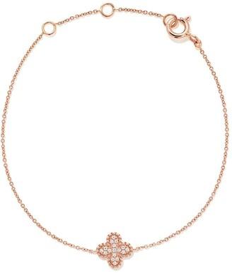 As 29 18kt rose gold Mye clover beading pave diamond bracelet