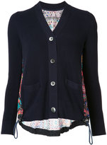 Sacai Long sleeve crochet lace cardigan - women - Cotton/Polyester - 1