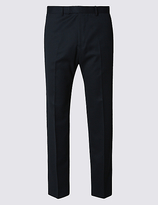 M&S Collection Navy Regular Fit Trousers