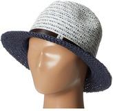 San Diego Hat Company UBF1006 Mixed Braid Belted Fedora