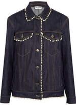 Paul & Joe Faux Pearl-embellished Denim Jacket - Dark denim