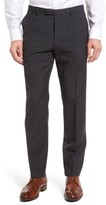 BOSS Men's Leenon Flat Front Plaid Wool Trousers