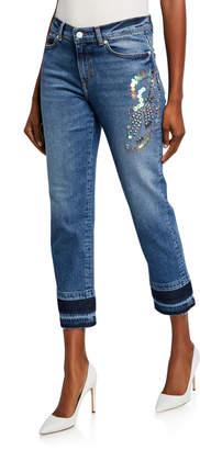 Escada Sport J106 Sequined Straight-Leg Jeans