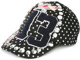 Dolce & Gabbana 'St Pois' patch cap - women - Cotton/Spandex/Elastane/Virgin Wool - 57