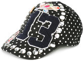 Dolce & Gabbana 'St Pois' patch cap - women - Cotton/Spandex/Elastane/Virgin Wool - 58