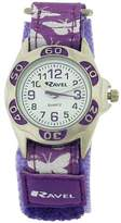Ravel Girls Dial Lilac / Butterfly Velcro Strap Watch R1507.51